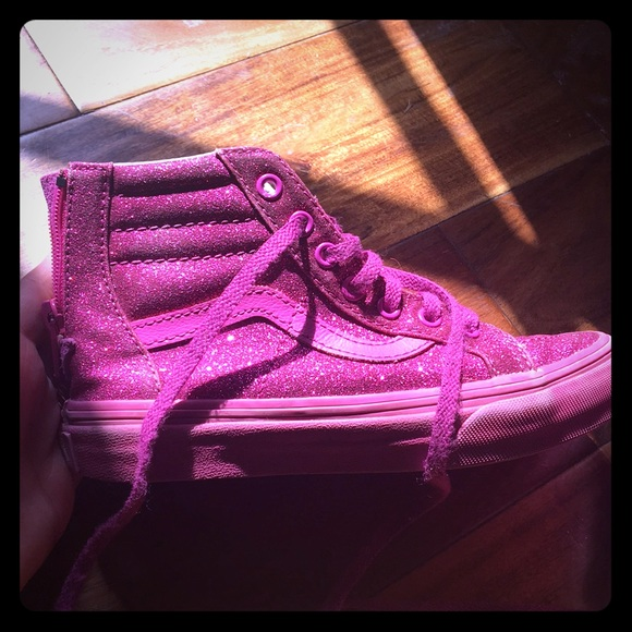 Vans Shoes   Hot Pink Glitter Vans